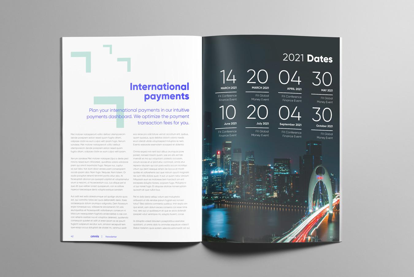 brochure design for fintech company